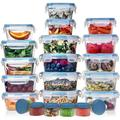HUGE SET (32 Pack) Food Storage Containers with Lids - Plastic Food Containers with Lids - Airtight Leak Proof, Easy Snap Lock Lunch Box, BPA-Free Plastic Storage Container Set