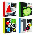 Egmy Soft Baby Cloth Book Infant Educational Black White Cognize Cloth Book Toy