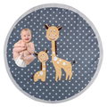 OBERLUX Baby Play Mat Memory Foam - Play Mat for Baby, Machine Washable, 49 inches-Large Non Slip Floor Mat, Playroom Decor, Baby Crawling Mat, Tummy Time Mat, Jungle Animal Safari Theme Baby Mat.