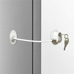 Miuline 5Pcs Fridge Refrigerator Lock Baby Safety Fridge Locks for Adults Children Safety Fridge Locks Freezer Locks Strong Adhesive
