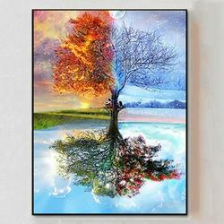 5D Diamond Painting DIY Room Wall Picture Decor Dreamlike Tree Rhinestone Art