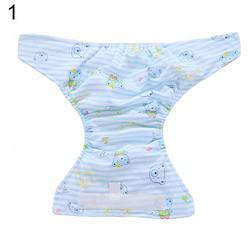 SANWOOD Cloth Diaper, Newborn Baby Adjustable Washable Reusable Soft Cotton Nappy Cover Cloth Diaper