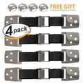 Amerteer 4 Pack Best Earthquake & Child Safety Straps for Preventing Your Furniture or Flat Screen TV From Falling on Your Baby or Loved Ones, Maximum Anti-Tip Strap For Child Proofing Your Home