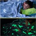 Rayliad Glow in The Dark Dinosaur Blanket 60 x 72 inch Large Size - Bright, Super Soft, Plush, Thick, and Comfy