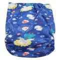 Mgaxyff Reusable Infant Swim Diaper Washable Pocket Cloth Hook Loop Operating System Size Adjustable, Infant Reusable Diaper, Baby Reusable Diaper
