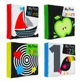 TANGON Soft Baby Cloth Book Infant Educational Black White Cognize Cloth Book Toy