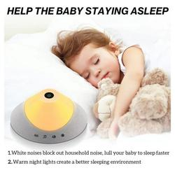 YY.Home White Noise Machine for Sleeping Adults Baby, with 20 Soothing Sounds, Night Light and Timer, Built-in Rechargeable Battery, Portable Sleep Sound Machine for Home Office Travel