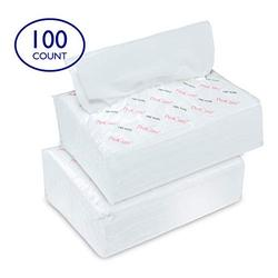 """Ultra Soft Dry Wipes for Baby and Adults, 100 Count - Convenient Dispenser Pack - 11.5"""" x 9.25"""" - Disposable Cotton Dry Cleansing Cloths, Hospital Washcloths - for Cleaning, Incontinence, Facial Use"""