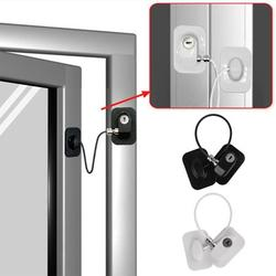 Willstar Refrigerator Door Lock with Keys Window Drawer Lock Freezer Door Lock Fridge Lock Baby Kid Child Safety Cabinet Lock 3M Strong Glue Adhesive (White)