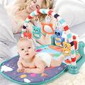 3 in 1 Baby Gym Fitness Playmat Baby Play Mat Newborn Infant Baby Musical Piano Kick&Play Piano Tummy Time Mat Baby Girl Boy Stuff, Newborn Baby Play Gym Mat Baby Girl Boy Shower Gifts Toys