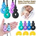 Amerteer 4 Pcs Chew Necklace, Sensory Chew Necklace Bundle for Kids with Teething, ADHD, Autism, Biting Needs, Oral Motor Chewy Teether, Silicone Necklace, for Boys&Girls