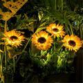 4 Packs Solar Garden Lights, Sunflower Garden Decorative Lighting Solar Led Outdoor Lights, Solar Pathway Lights for Garden, Courtyard, Patio, Front Yard, Backyard, Balcony, Entryway