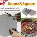 Round & Square BBQ Grill Mesh Square Grill Mesh Mat Non-stick Teflon Mesh Grill Mat