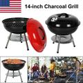 Brand New Portable Charcoal Grill for Outdoor 14 inch Barbecue Grill and Smoker Heat Control Round BBQ Kettle Outdoor Picnic Patio Backyard Camping Tailgating Steel Cooking Grate for Steak Chicken