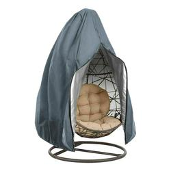 GETHOME Swing Chair Cover Egg Shape Outdoor Dustproof Wicker Hanging Hammock Stand Cover Water-proof UV Protect Easy Clean (Grey/230x200cm)