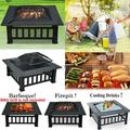 Hottest 32 inch Fire Pits Outdoor Wood Burning Portable Courtyard Metal Fire Bowl for Camping, Outdoor Heating, Bonfire and Picnic Black