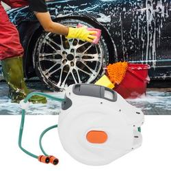 Fosa Wall Mounted Hose Reel,Garden Hose Reel,Wall Mounted Retractable Garden Water Hose Reel with 20m Pipes Watering Equipment