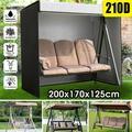 210D/420D 3 Seater Swing Seat Chair Hammock Cover Garden Patio Furniture Protector Moisture proof Waterproof UV Resistant