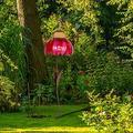 "OIENS Hummingbird Feeder - 28"" Hummingbird Feeders for Outdoors, Bird Feeders for Outside, Pink flower Bird Feeder Outdoor Garden Yard Decoration"