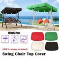 Top Dust Hood for Swing Outdoor Garden Patio Swing Sunshade Cover Top Cover Replacement