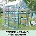 Walk-In Greenhouse Indoor Outdoor Garden Yard Patio 3 Tier 6 Shelves Movable Plant Greenhouse for Growing Flowers Plants