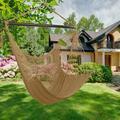 TNBIU Hammock Chair Swing Chair Seat Hanging Chair with Tassels for Outdoor Beach Garden Coffee