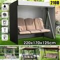 87'' x 66.93'' x 49.21'' 3 Seater Swing Seat Chair Hammock Cover Outdoor Garden Patio Furniture Dust Cover Waterproof Sun Protection Cover