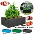 Large Size Raised Plant Bed Garden Flower Planter Elevated Vegetable Box Planting Grow Bag Fabric Garden Bed Rectangle Breathable Planting Container Grow Bag Planter Pot