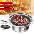 BBQ Charcoal Grill Portable Household Korean Grill Round Carbon Barbecue Grill Camping Grill Stove for Outdoor,Indoor and Picnic