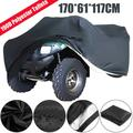 Black Waterproof Riding Lawn Mower Tractor Storage Cover Protecter Outdoor Garden Outside Yard 70inch 55inch