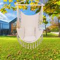 Fall Hammock Hanging Rope Chair Porch Swing Seat Patio Camping Portable Beige