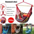 New High Quality Hammock Hanging Rope Chair Rocking Chair Seat with 2 Pillows for Courtyard Room Dormitory