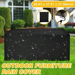 """Outdoor Furniture Cover, Waterproof Patio Table Covers, Heavy Duty Windproof Oxford Garden Table Sofa Cover, Rectangular Patio Furniture Covers UV-Resistant, (66.93""""x37""""x27.56""""), Q18490"""