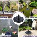 Solar Fountain Pump,4 Nozzles Circle Garden Solar Powered Water Pump,Small Solar Panel Floating Fountain Pump,For Bird Bath,Pond,Fountain,Garden Decoration