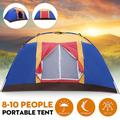 Family 8 Persons Camping Large Dome Tent Anti-UV Waterproof Sleeps Tent for Travel Outdoor Hiking Beach Fishing Picnic