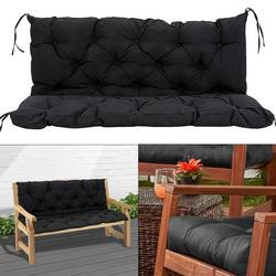Willstar 2 Seater Bench Cushion Pad Backrest Garden Bench Seat Cushion Furniture Pad Swing Chair Cushion for Outdoor Patio Furniture Recliners 120x50x50cm
