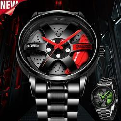 New Tire Men Watch Top Brand Luxury Stainless Steel Waterproof Watch For Men Fashion Creative Quartz Clock Personalized Casual Watches Reloj de hombre
