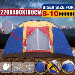 Camping Tents 8-10 Person - Outdoor Big Family Large Tent Durable Portable Easy Set-Up Waterproof Dome Tent for Traveling Camping Hiking with Portable Bag