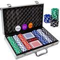 Tocebe Poker Chip Set, 300PCS Poker Chips with Aluminum Case, 11.5 Gram Poker Set for Texas Holdem Blackjack Gambling