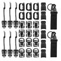 32Pcs Tactical Molle Attachments Tactical Gear Clips Nylon Buckle Military D-ring Locks Tactical Hydration Water Tube Clips For Hiking Camping Outdoor Survival