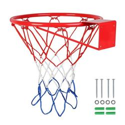 """18"""" Indoor/Outdoor Basketball Rim Hoop Heavy Duty Basketball Net Replacement - All Weather Anti Whip, Fits Standard Indoor Or Outdoor Rims, 12 Loops"""
