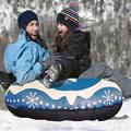 Adult Children Skiing Ring With Handle Inflatable PVC Snow Sled Tire Tube Ski Pad Outdoor Sports Winter Snow Safety Tube