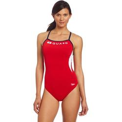 Speedo Women's Guard Swimsuit One Piece Endurance Energy Back - Manufacturer Discontinued, 51% PBT/49% Polyester By Visit the Speedo Store