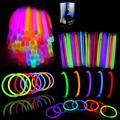 """Glow Sticks Bulk 400 8"""" Glowsticks (Total 800 Pcs 7 Colors); Glow Stick Bracelets; Glow Necklaces; Glow in the Dark, July 4th, Christmas, Halloween Party Supplies Pack, Football Party Supplies"""