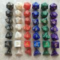 Besufy Dice Set 7Pcs KTV Party Multicolor Polyhedral Numbers Dice Table Board Game Supply Gift
