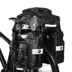 Suzicca 3 in 1 Mutifunctional Bike Rear Bag Waterproof Bicycle Shoulder Bag Bike Saddle Bag Bicycle Cargo Rack Pannier Long Cycling Accessory