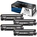 4 Pack Black 78A Toner Compatible for HP 78A | CE278A Toner Cartridge Replacement to use with Laserjet Pro P1566 P1560 M1536dnf M1537dnf M1538dnf M1530 P1606dn P1606 Printer Toner