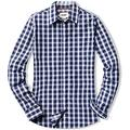 CQR Women's Classic Fit Button Up Shirts, 100% Cotton Long Sleeve Casual Poplin Shirt, Poplin(wol502) - Magnetic Blue, XX-Large