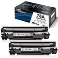 2 Pack Black 78A Toner Compatible for HP 78A | CE278A Toner Cartridge Replacement to use with Laserjet Pro P1606dn P1606 P1566 P1560 M1536dnf M1537dnf M1538dnf M1530 Printer Toner