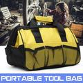 12 Inch Portable Electrician Canvas + Nylon Zipper Closure Portable Storage Case Tool Bag load 5KG Toolbox With Net Pocket 31x18x22cm